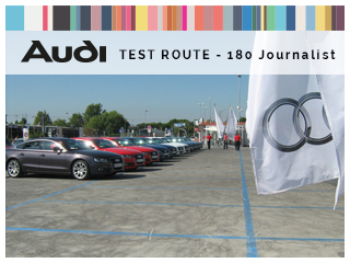 Audi Test Route 180 journalist